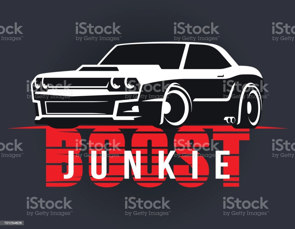 3bd1047e Boost muscle car t-shirt graphics royalty-free boost muscle car tshirt  graphics stock