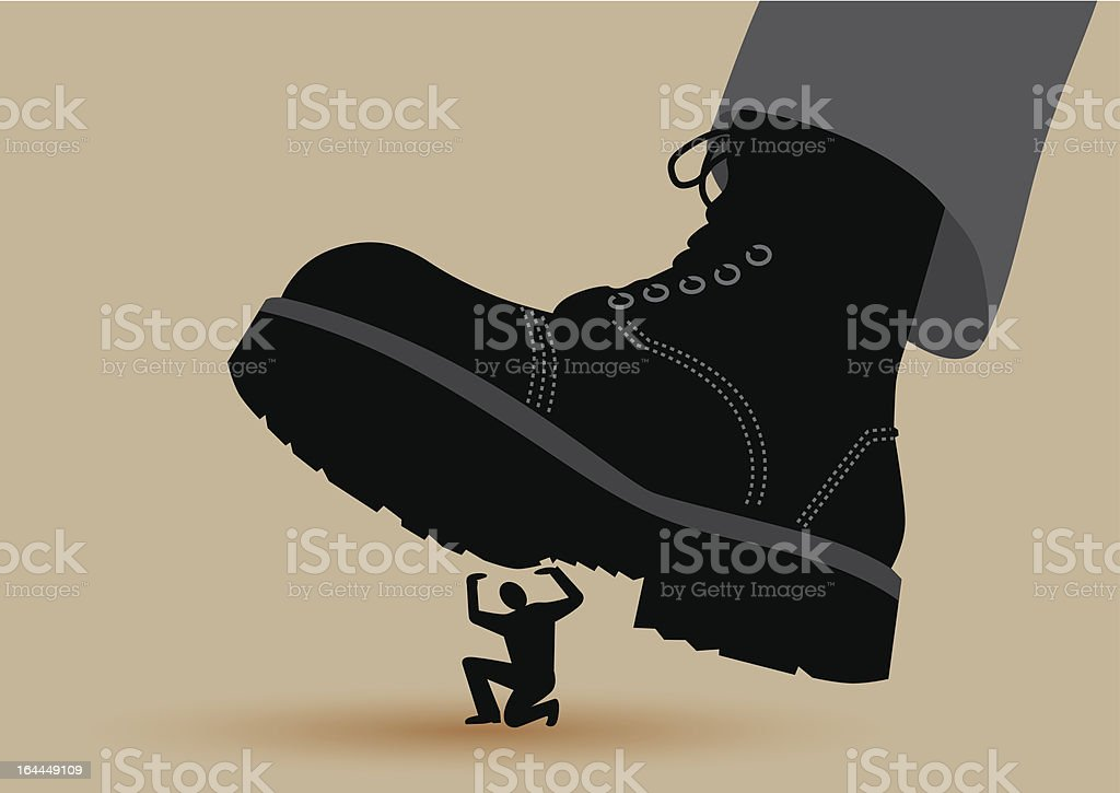 Boot Crushing royalty-free boot crushing stock vector art & more images of adult