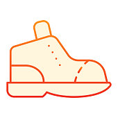 istock Boot flat icon. Footwear red icons in trendy flat style. Hiking boots gradient style design, designed for web and app. Eps 10. 1209514854