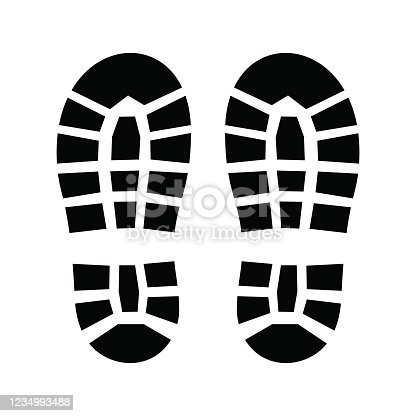 istock Boot footprint icon. 1234993488