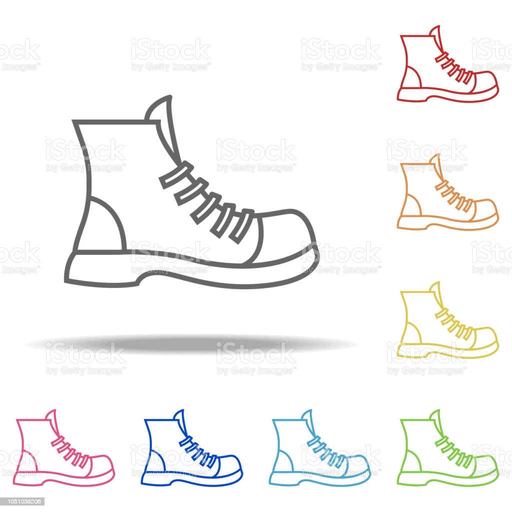 fef0ecbe4d Boot icon. Elements of Camping in multi colored icons. Simple icon for  websites