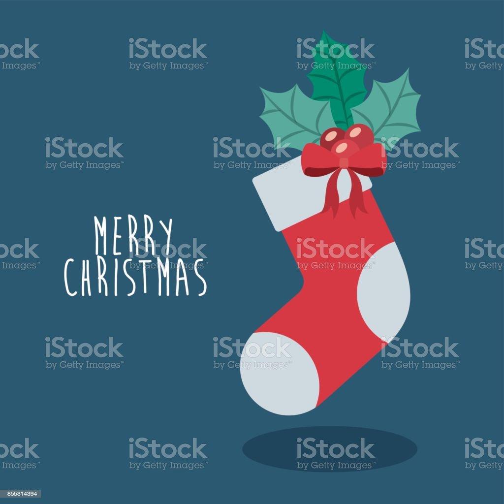 Inicio Feliz Navidad.Ilustracion De Inicio De Diseno De La Feliz Navidad Y Mas