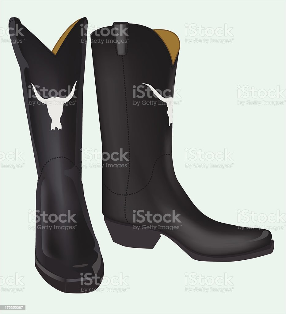 boot on blue background royalty-free stock vector art