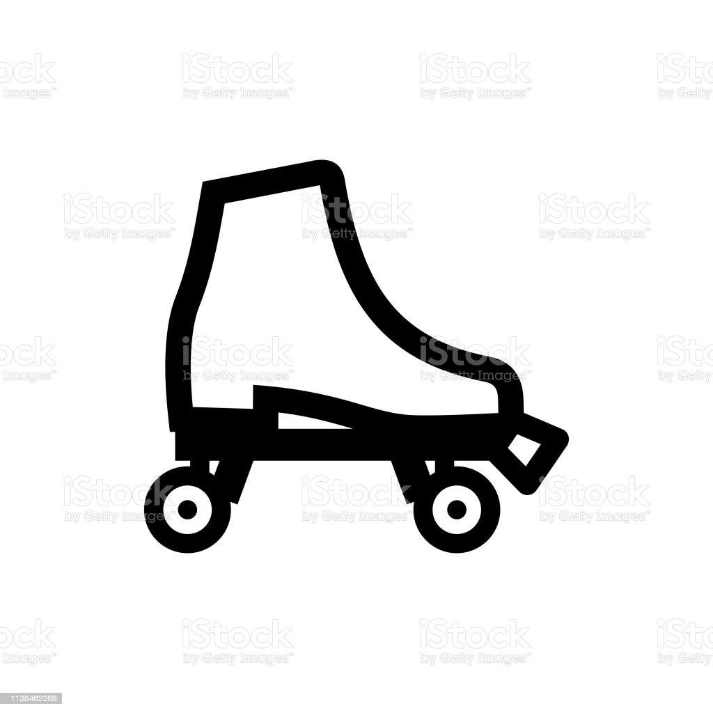 Boot Roller Skate Stock Illustration - Download Image Now