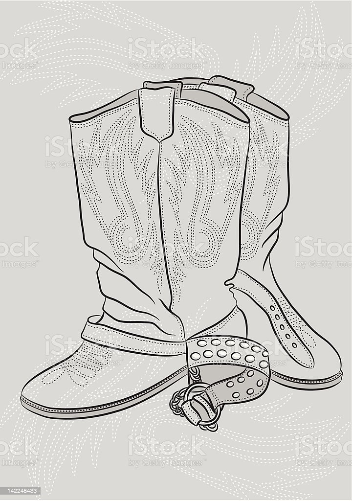 Boots. Сапоги. royalty-free stock vector art