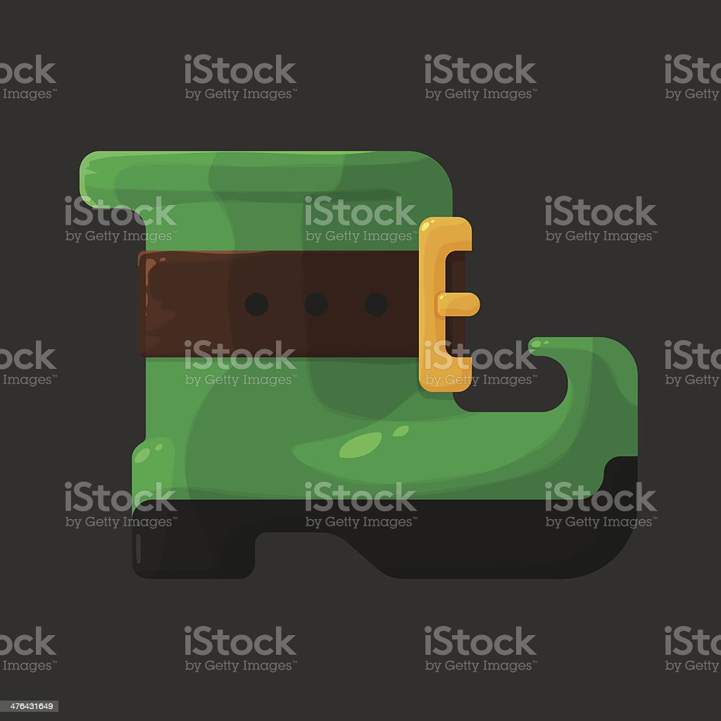 Boots of leprechaun for St. Patricks Day icon royalty-free stock vector art