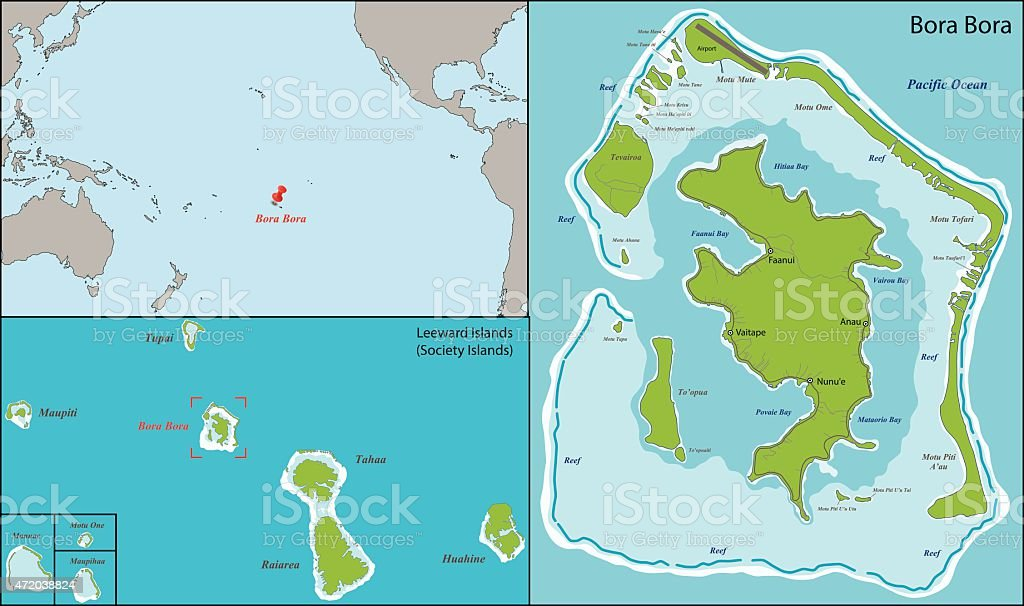 Bora Bora Map Stock Illustration Download Image Now Istock