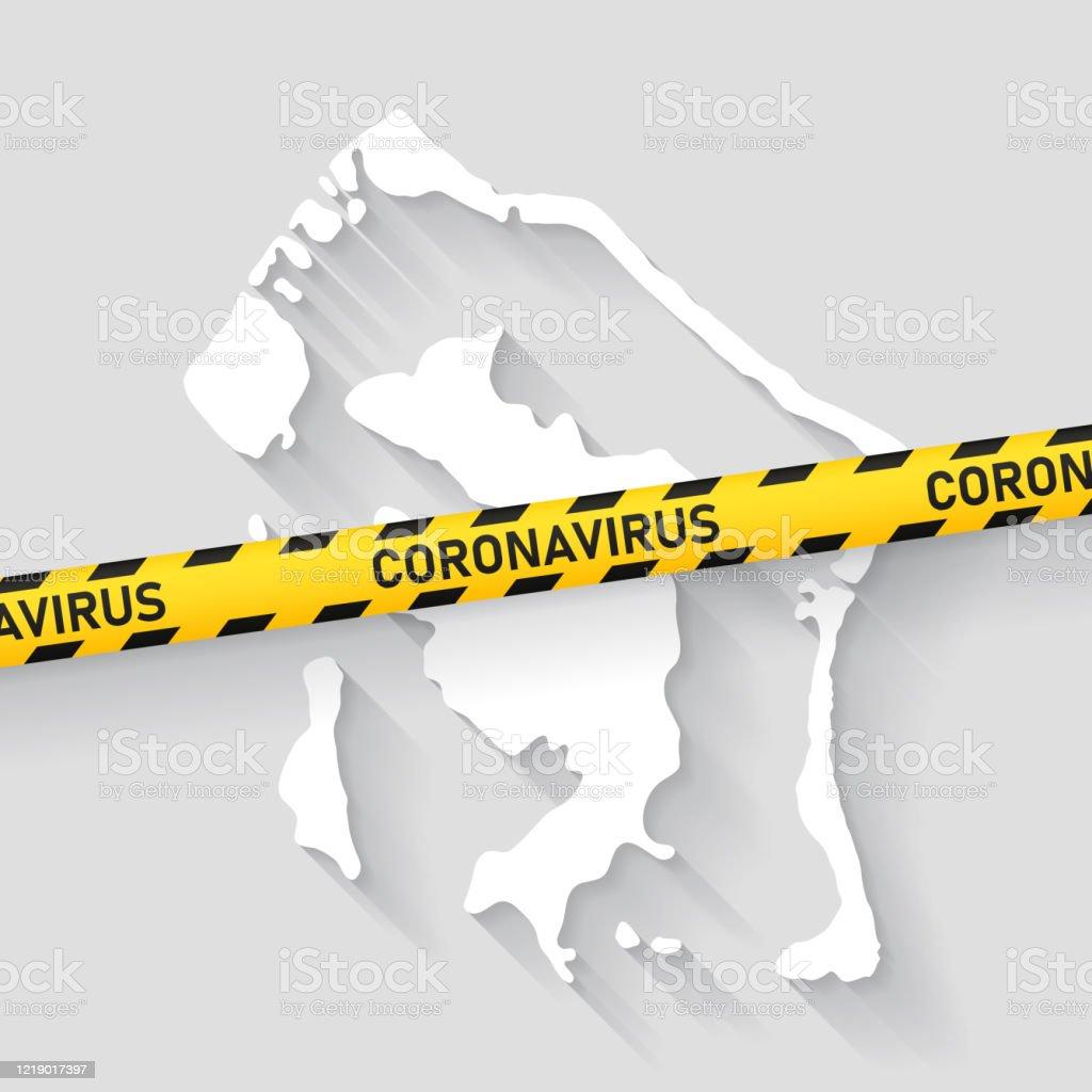 Bora Bora Karte Mit Coronavirus Vorsichtband Covid19ausbruch Stock Vektor Art Und Mehr Bilder Von Absperrband Istock