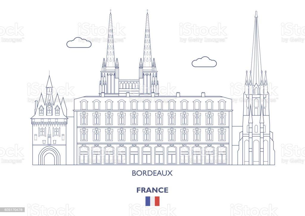 Bordeaux ville Skyline, France - Illustration vectorielle