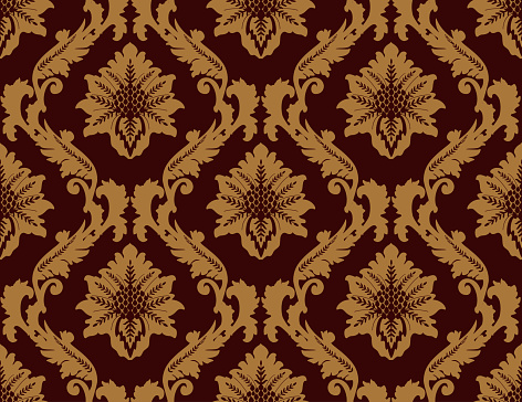Bordeaux Damask Luxury Decorative Textile Pattern