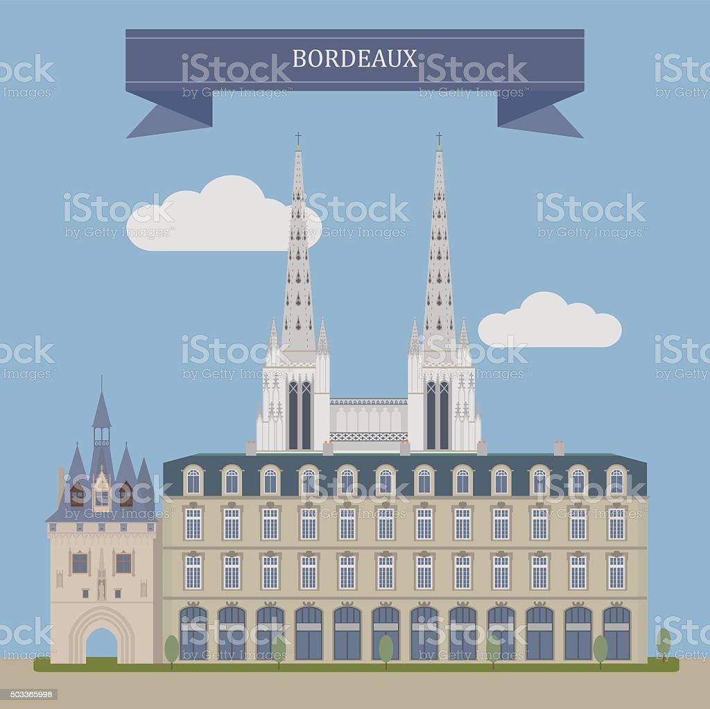 Bordeaux, France - Illustration vectorielle