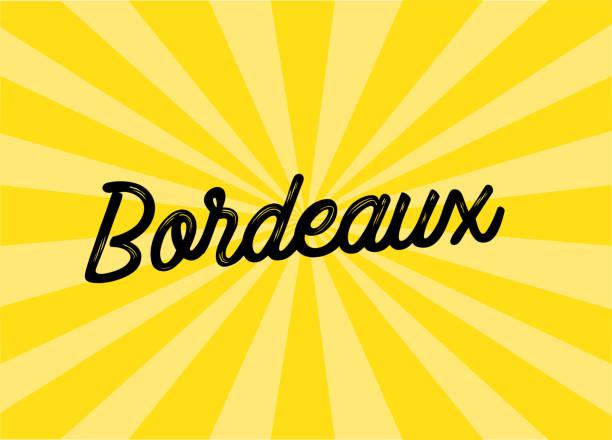 Design de lettrage Bordeaux - Illustration vectorielle