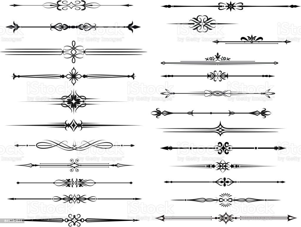 Frontière et diviseur pour ossatures vintage - Illustration vectorielle