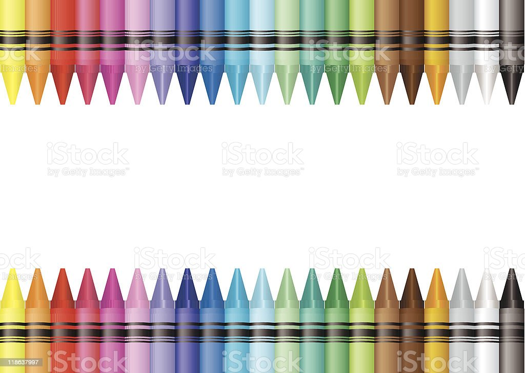 border crayon vector art illustration