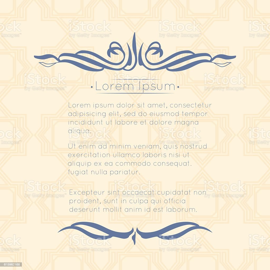 Border Designs For Greeting Cards Template Design For Invitation