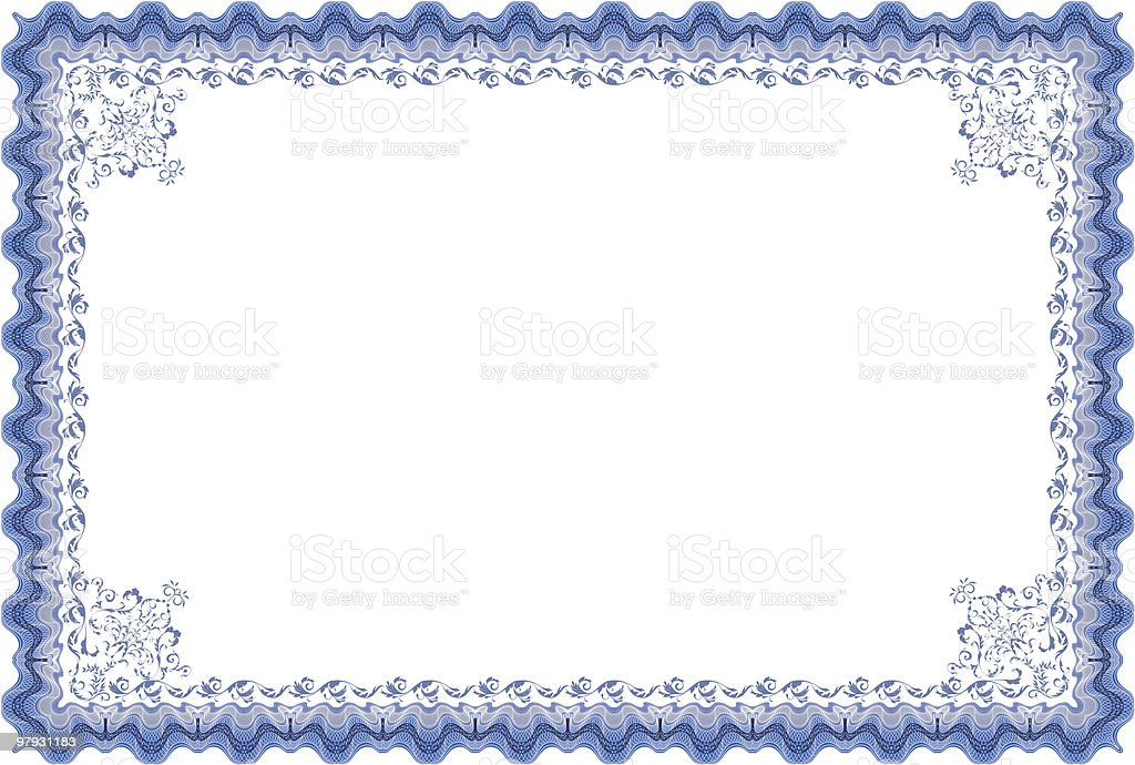 Border diploma or certificate. royalty-free border diploma or certificate stock vector art & more images of achievement