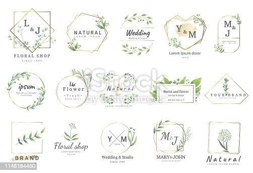 istock border flower for wedding,banner,badge,printing,product,package.vector illustration 1146164450