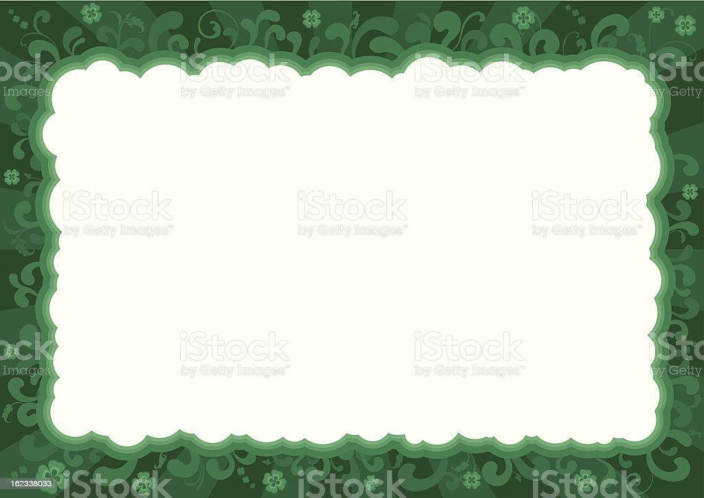 Border  for St. Patrick's Day royalty-free stock vector art