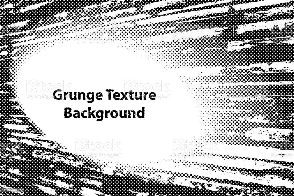 Marco De Frontera Grunge Textura Con Efecto Puntos De Medio Tono ...