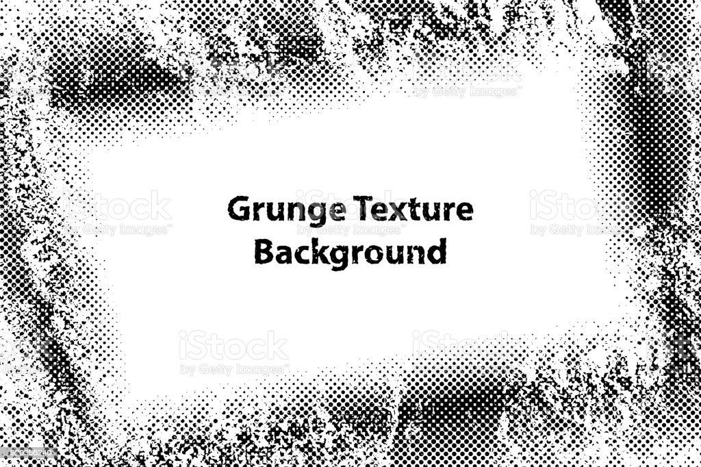 Ilustración de Marco De Frontera Grunge Textura Con Efecto Puntos De ...