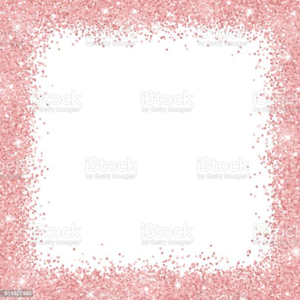 Border frame with rose gold glitter on white background vector vector id914827460?b=1&k=6&m=914827460&s=612x612&h=inczafpt 83boq50eztvj meos4y4khxsagntjdf7mu=