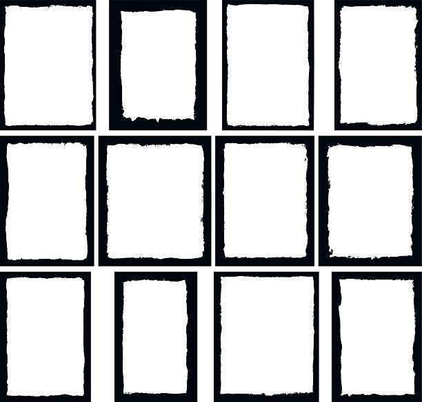 border frames isolated on white - grunge frames stock illustrations, clip art, cartoons, & icons