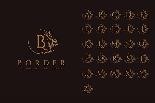 Border identity vector set