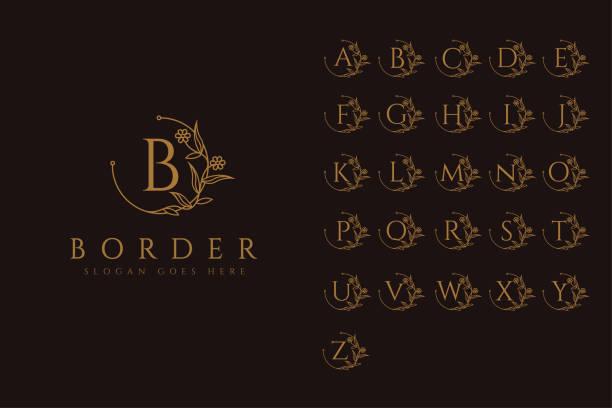 Border identity vector set Border identity vector set alphabet patterns stock illustrations
