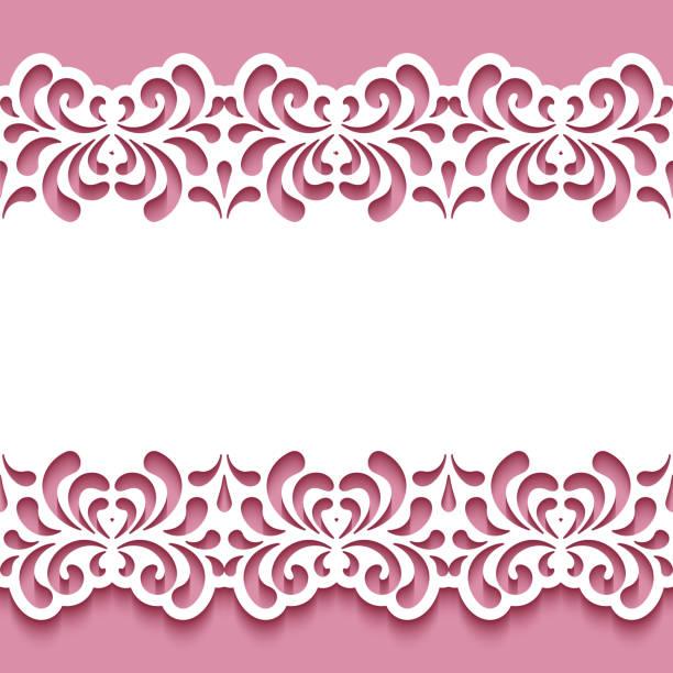 grenze-lochmuster mit ausschnitt floral wirbelt - stanzen stock-grafiken, -clipart, -cartoons und -symbole