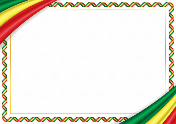 border made with senegal national colors - senegal stock illustrations