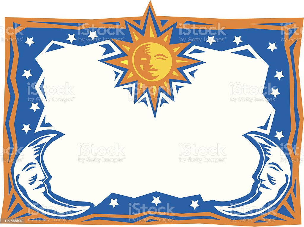 Border Moon Sun Frame Stock Vector Art More Images Of Art And