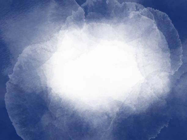 背景為白色背景的深藍色油漆色調的邊框。水彩筆劃框架。海軍藍色手繪抽象紋理。 - 海軍藍 幅插畫檔、美工圖案、卡通及圖標