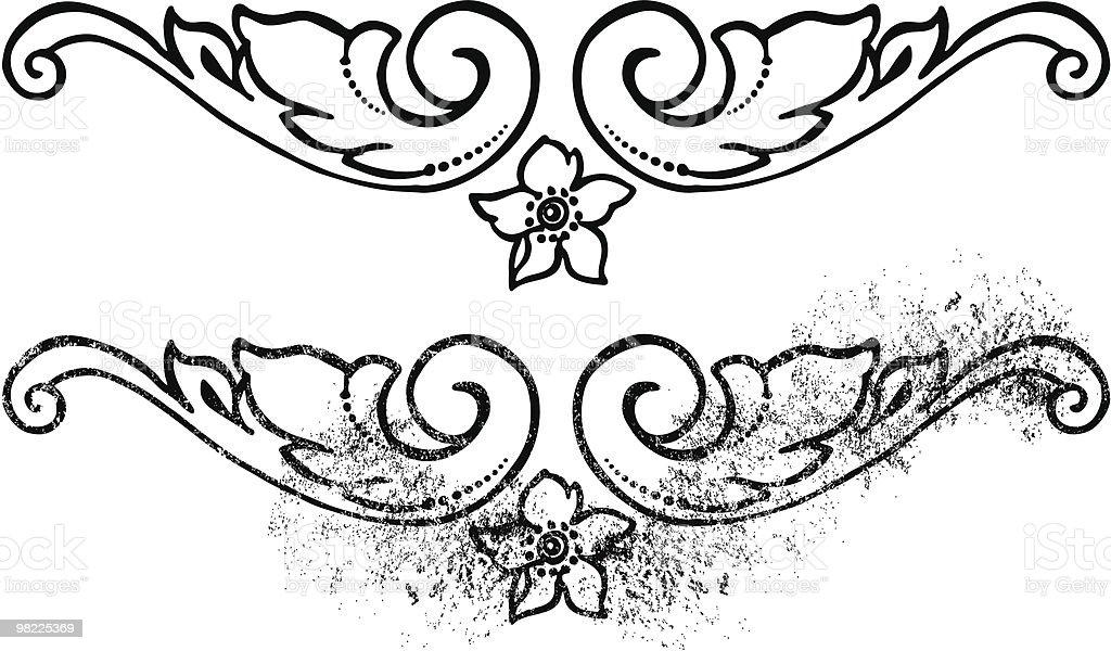 Confine Decorazione confine decorazione - immagini vettoriali stock e altre immagini di bianco e nero royalty-free