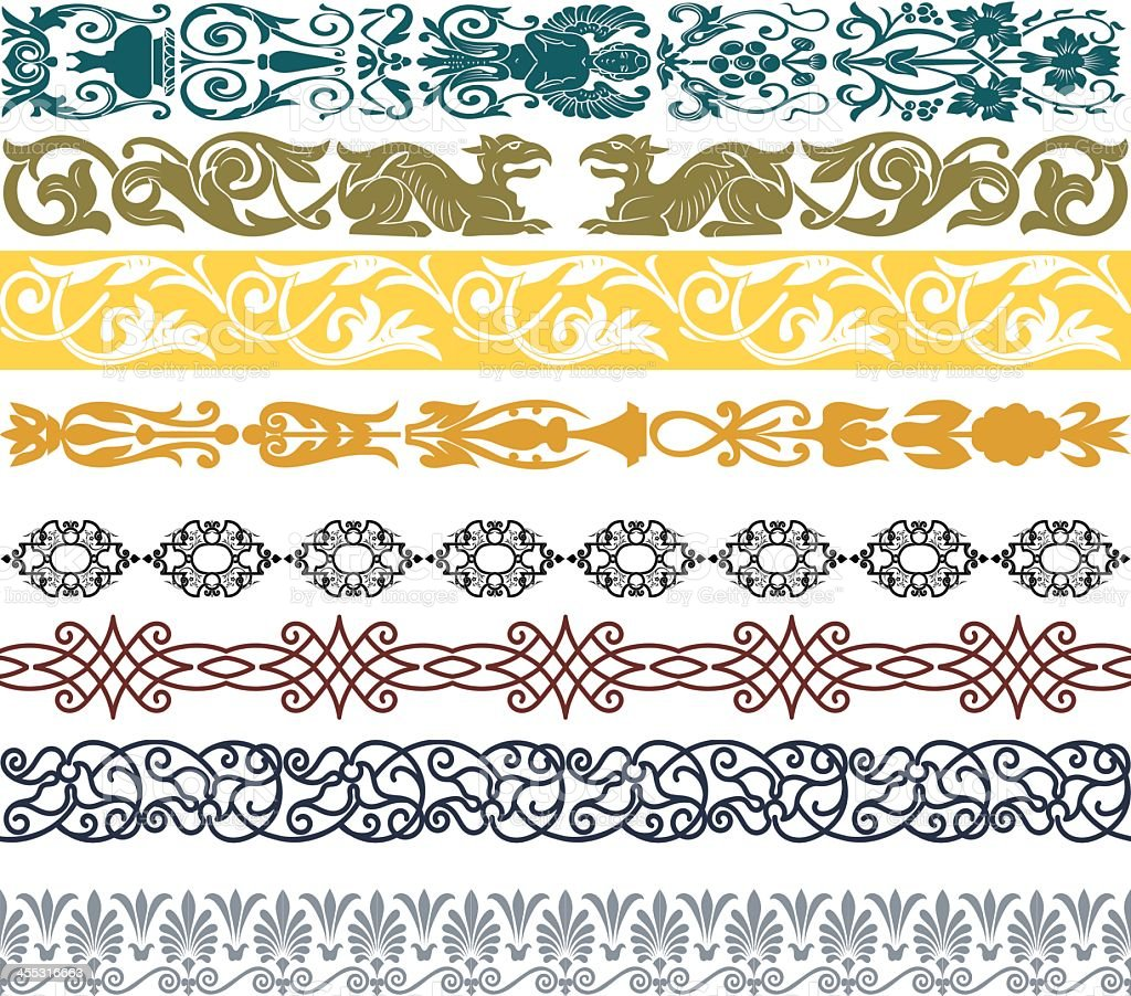 Border set royalty-free border set stock vector art & more images of abstract