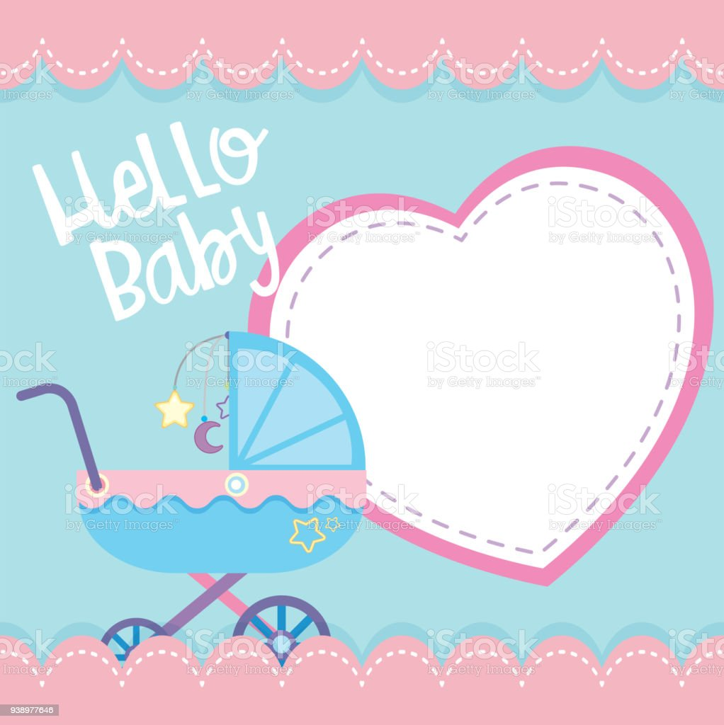 Border Template With Baby Stroller Stock Vector Art & More Images of ...
