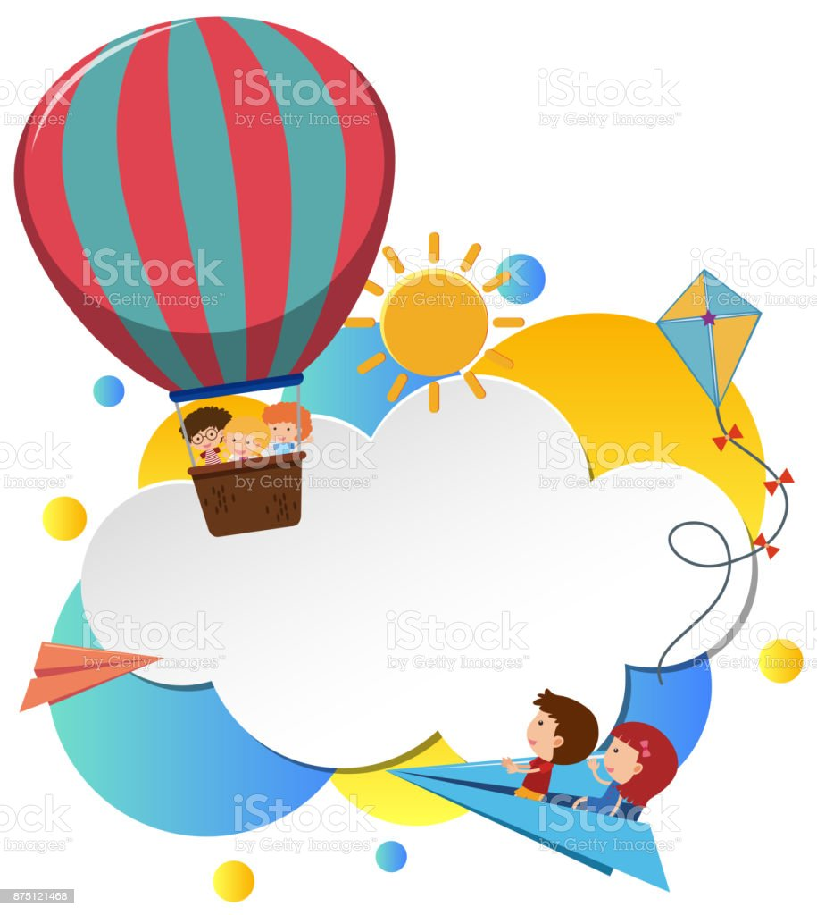 Border template with kids in balloon stock vector art more images border template with kids in balloon royalty free border template with kids in balloon stock voltagebd Image collections