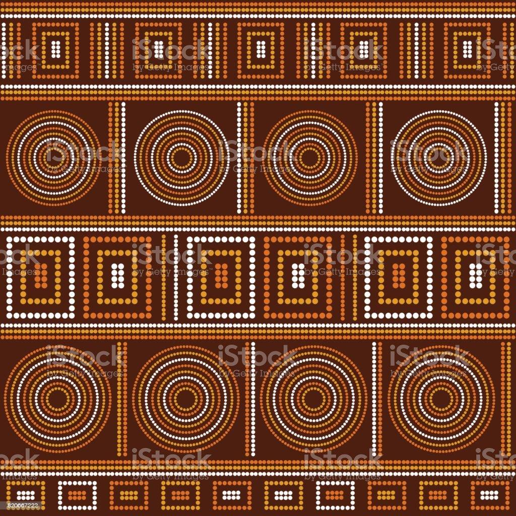 Border tribal pattern vector - illustrazione arte vettoriale