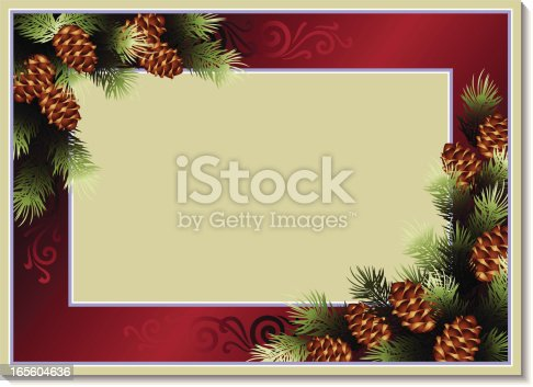 istock Border with pine branches 165604636