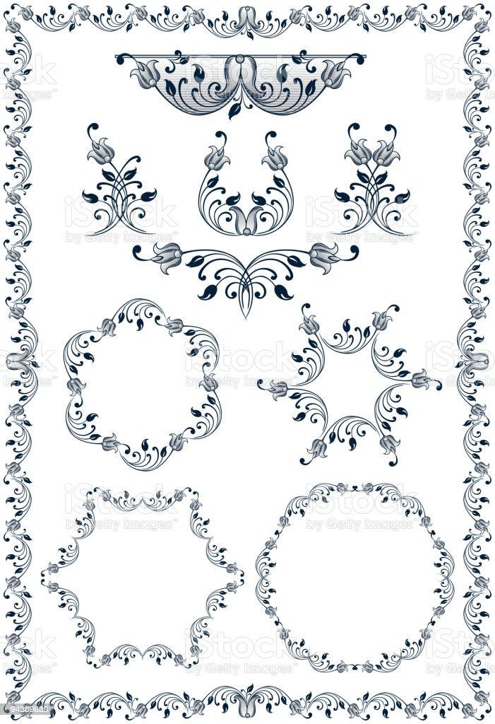 border_1 royalty-free stock vector art