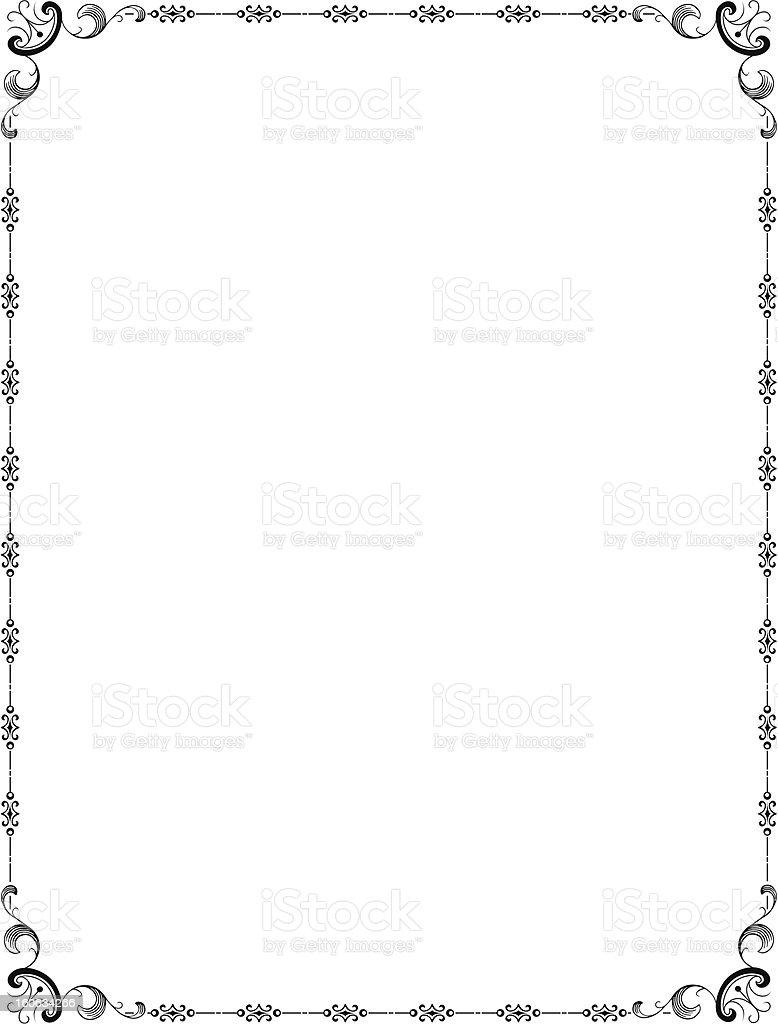 BorderM royalty-free stock vector art