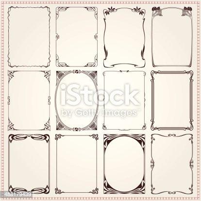 Borders And Frames Art Nouveau Style