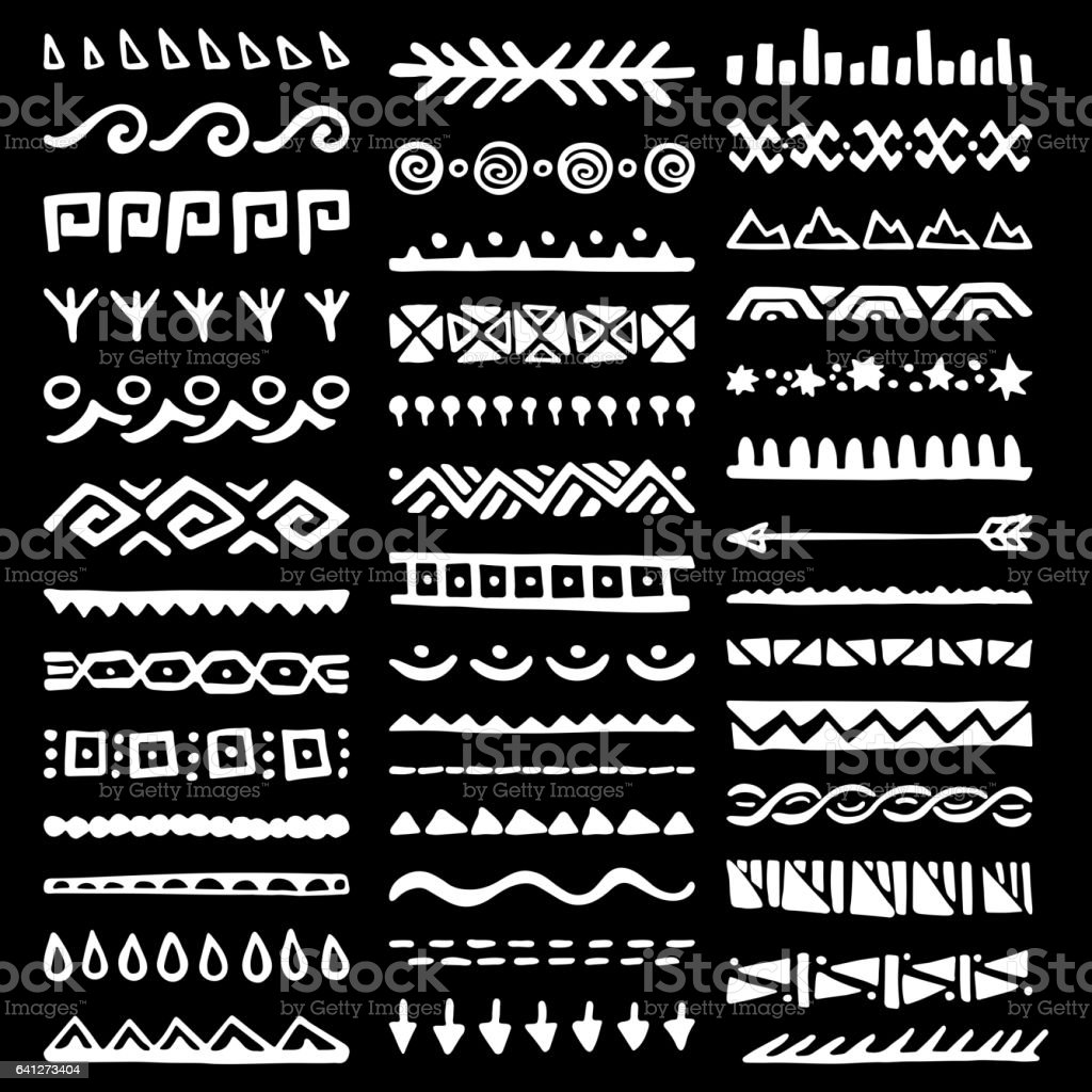 9043084c92299 Borders Collection in Ethnic Style royalty-free borders collection in ethnic  style stock vector art