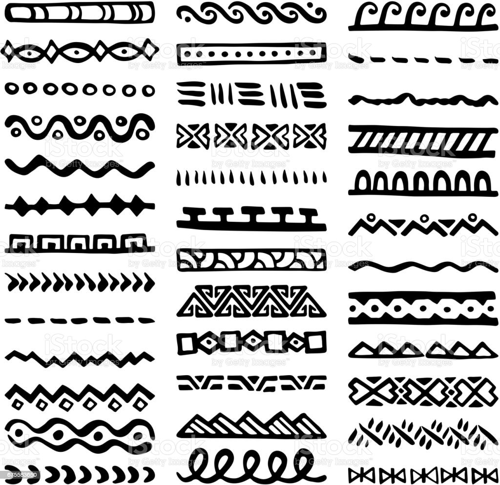 Borders Collection in Ethnic Style borders collection in ethnic style - arte vetorial de stock e mais imagens de abstrato royalty-free
