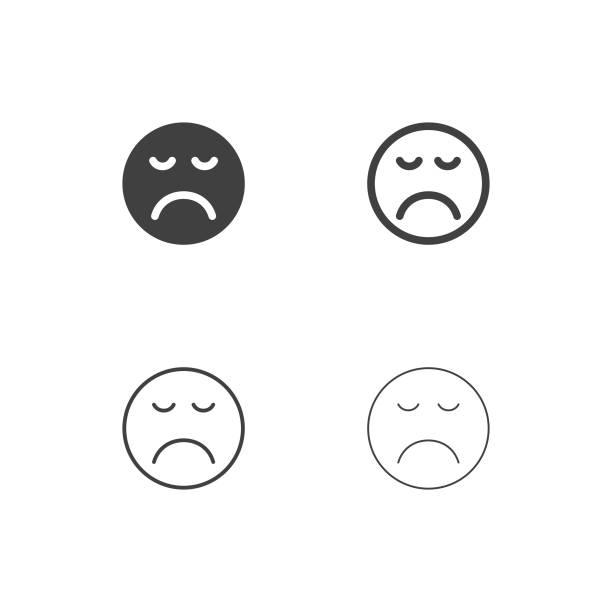 illustrations, cliparts, dessins animés et icônes de icônes emoji ennuyé - série multi - emoji paresseux