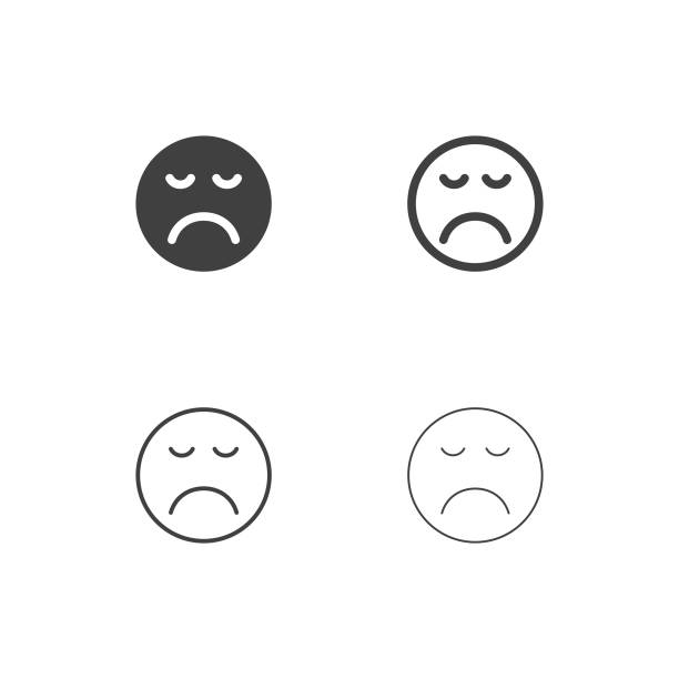 gelangweilt emoji icons - multi serie - faules emoji stock-grafiken, -clipart, -cartoons und -symbole