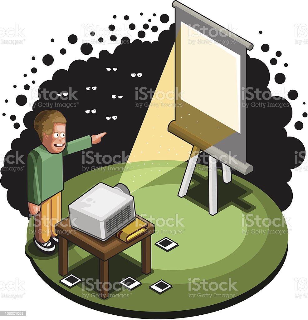 Boring slideshow vector art illustration