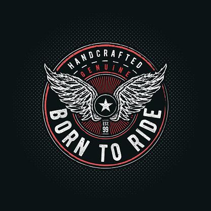 Born to Ride typographic