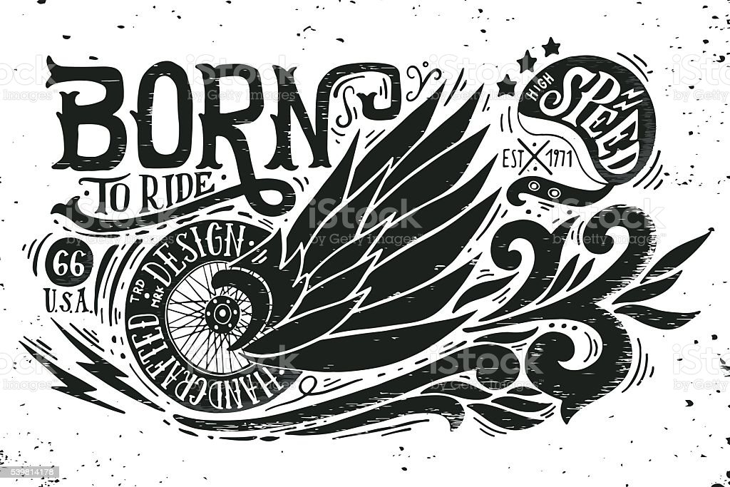 Born to ride - ilustración de arte vectorial