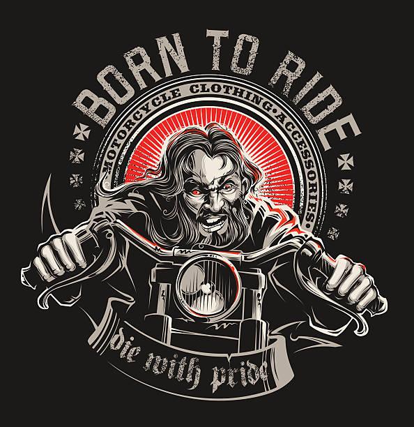 born to ride - オートバイ点のイラスト素材/クリップアート素材/マンガ素材/アイコン素材