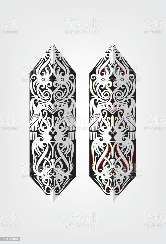 borneo sarawak iban tribal shield motif stock vector art more images of iban tribe 671183810. Black Bedroom Furniture Sets. Home Design Ideas